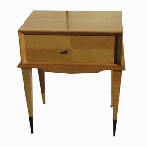 Mid-Century Sycamore Nightstand, 1950s