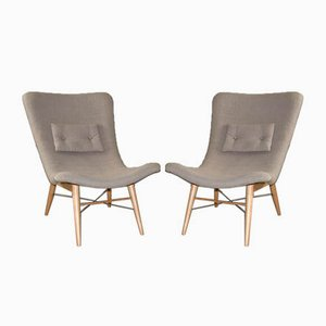 Armchairs by Miroslav Navratil, 1950s, Set of 2