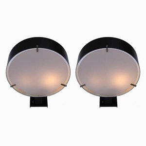 Black Sconces by Bruno Gatta for Stilnovo, 1950s, Set of 2
