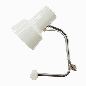 Lámpara de mesa Mid-Century blanca de Napako, años 70