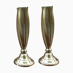 Mid-Century Brass Vases, 1950s, Set of 2