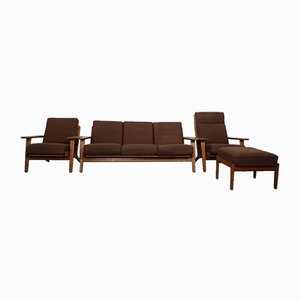 GE 290 Teak Living Room Set by Hans J. Wegner for Getama, 1960s, Set of 4