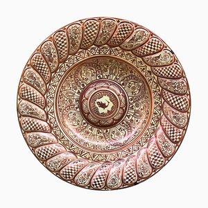 Piatto Mid-Century in ceramica di La Ceramo Factory Spain, Spagna, anni '40