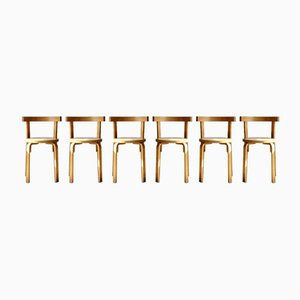 Mid-Century Bent Plywood Dining Chairs, 1970s, Set of 6