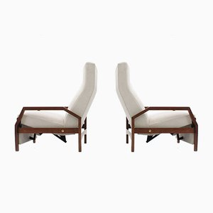 Recliner Armchairs from ISA Bergamo, 1950s, Set of 2
