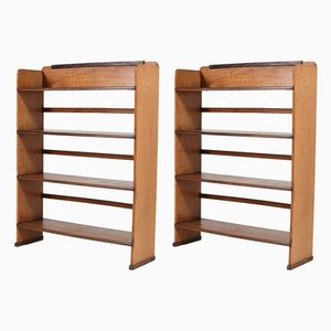 Art Deco Shelves by Piet Izeren for De Genneper Molen, 1920s, Set of 2