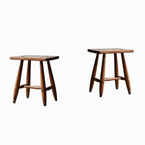 Mid-Century French Stools, 1950s, Set of 2