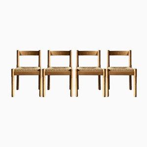 Carimate Esszimmerstühle von Vico Magistretti für Habitat, 1970er, 4er Set