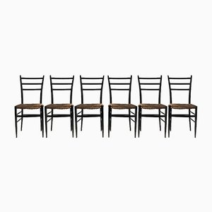 Dining Chairs from Chiavari, 1950s, Set of 6