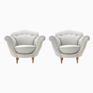 Italian Adalgisa Armchairs by Ferdinanda Walcher for Walcher, 1950s, Set of 2