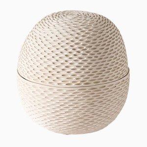 Weißer eiförmiger Pineal Behälter von Atelier KAS