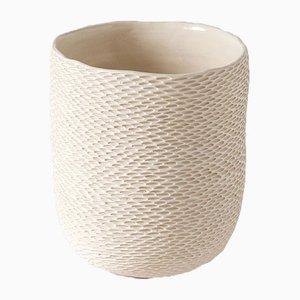 Vaso Clycular Pineal bianco di Atelier KAS