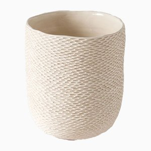 White Calycular Pineal Vase by Atelier KAS