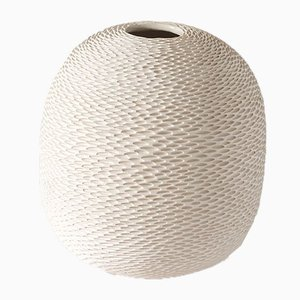 White Egg Pineal Vase by Atelier KAS