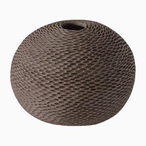 Brown Sphere Pineal Vase by Atelier KAS