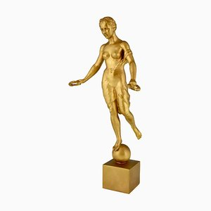 Deutsche Bronzeskulptur von Hanna Cauer für H. Noack Foundry, 1934