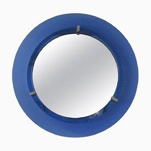 Spiegel mit blauem Rahmen von Veca, 1970er