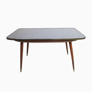 Large Mid-Century German Wood and Resopal Coffee Table, 1950s