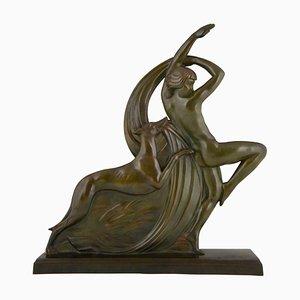Escultura francesa de bronce de Abel R Philippe, años 20