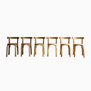 Chaises de Salle à Manger Vintage en Contreplaqué Courbé, 1970s, Set de 6