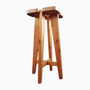 Pine Stool by Lisa Johansson Pape for Orno, 1960s