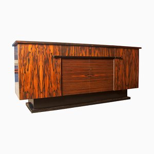 Art Deco Zebrawood Buffet from H. Pander & Zn., 1930s