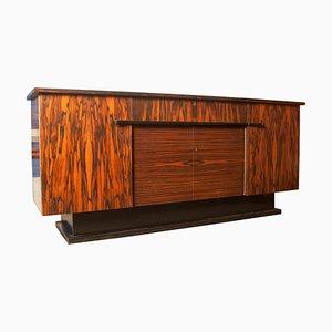 Bufet Art Déco de madera de zebrano de H. Pander & Zn., Años 30