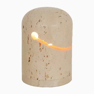 Vintage Travertine Table Lamp by Giuliano Cesari for Nucleo Sormani, 1971