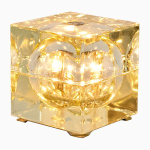 Glass Cubosfera Table Lamp by Alessandro Mendini for Fidenza Vetraria, 1960s