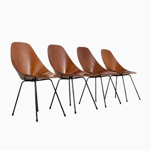 Medea Dining Chairs by Vittorio Nobili for Fratelli Tagliabue, 1950s, Set of 4