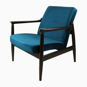 Vintage Green Velvet Armchair by Edmund Homa, 1970s