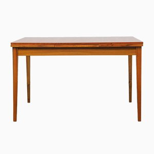 Extendable Walnut Veneer Dining Table, 1960s