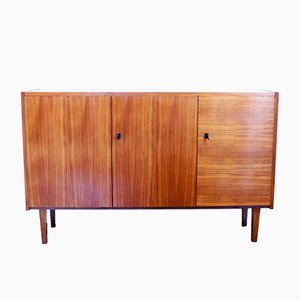 Mid-Century Walnut Veneer Cabinet, 1950s