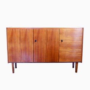 Mueble Mid-Century de chapa de nogal, años 50