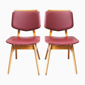 Mid-Century Red Skai Dining Chairs, Set of 2