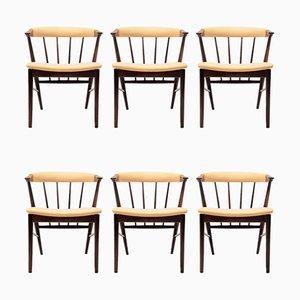 Armlehnstühle aus Palisander von Helge Sibast für Sibast, 1950er, 6er Set