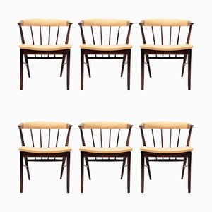 Rosewood Armchairs by Helge Sibast for Sibast, 1950s, Set of 6