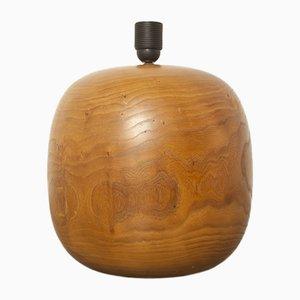 Kugelförmige Tischlampe aus Holz, 1980er