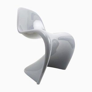 Silla auxiliar Cantilever gris de Verner Panton para Vitra, años 90