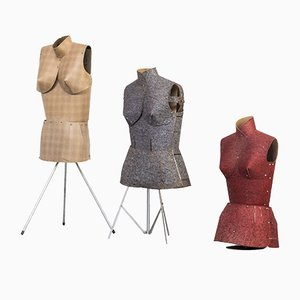 Vintage French Mannequins 1960s, Set of 3