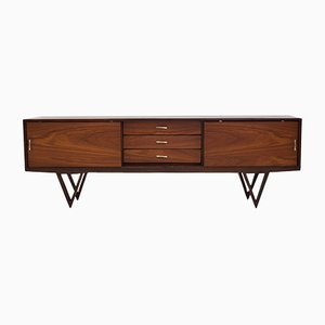 Mid-Century Modern Teak Sideboard with Triangular Feet