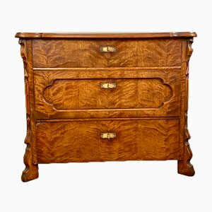 Antique French Walnut Chest of Drawers, 1920s