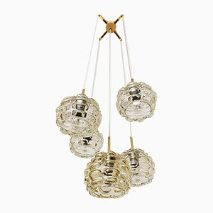 Bubble Glass Cascade Ceiling Lamp, 1960s
