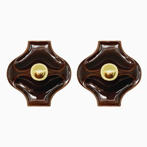 Ceramic Sconces, 1960s, Set of 2
