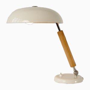 Weiße verstellbare Tischlampe von Belmag, 1930er