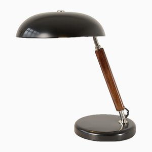 Adjustable Swiss Black Table Lamp from Belmag, 1930s