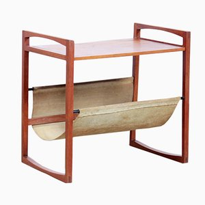 Danish Teak Magazine Rack by Kai Kristiansen for Sika Møbler, 1960s