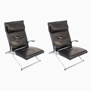 Model X Lounge Chairs by Joachim Nees for Interprofil, 1990s, Set of 2