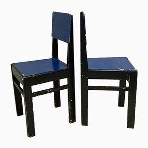 Niederländische Vintage Esszimmerstühle, 2er Set