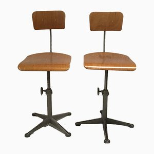 Industrial Swivel Chairs by Friso Kramer for Ahrend De Cirkel, 1960s, Set of 2